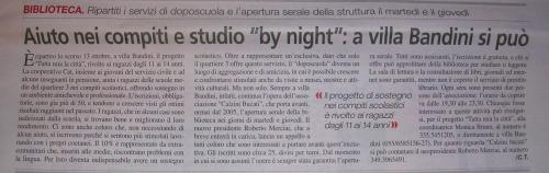 """L'articolo di Cecilia Tarchi, comparso su """"Il Reporter"""" di Dicembre 2008"""